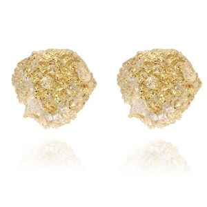 PREVIEW Yellow Druzy Crystal Resin Stud Earrings